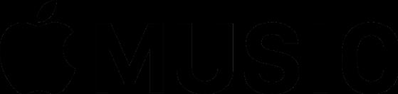 Apple Music logo black